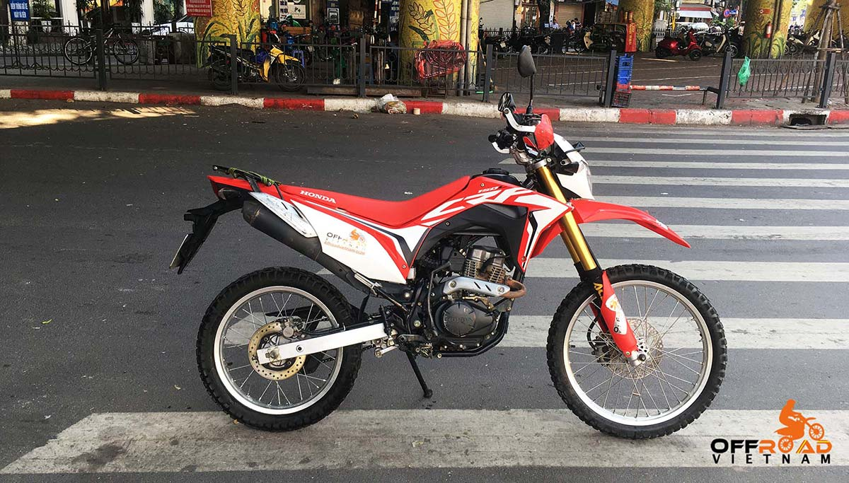 Honda CRF150L For Rent In Hanoi, the best small dual enduro you can rely on in Hanoi.