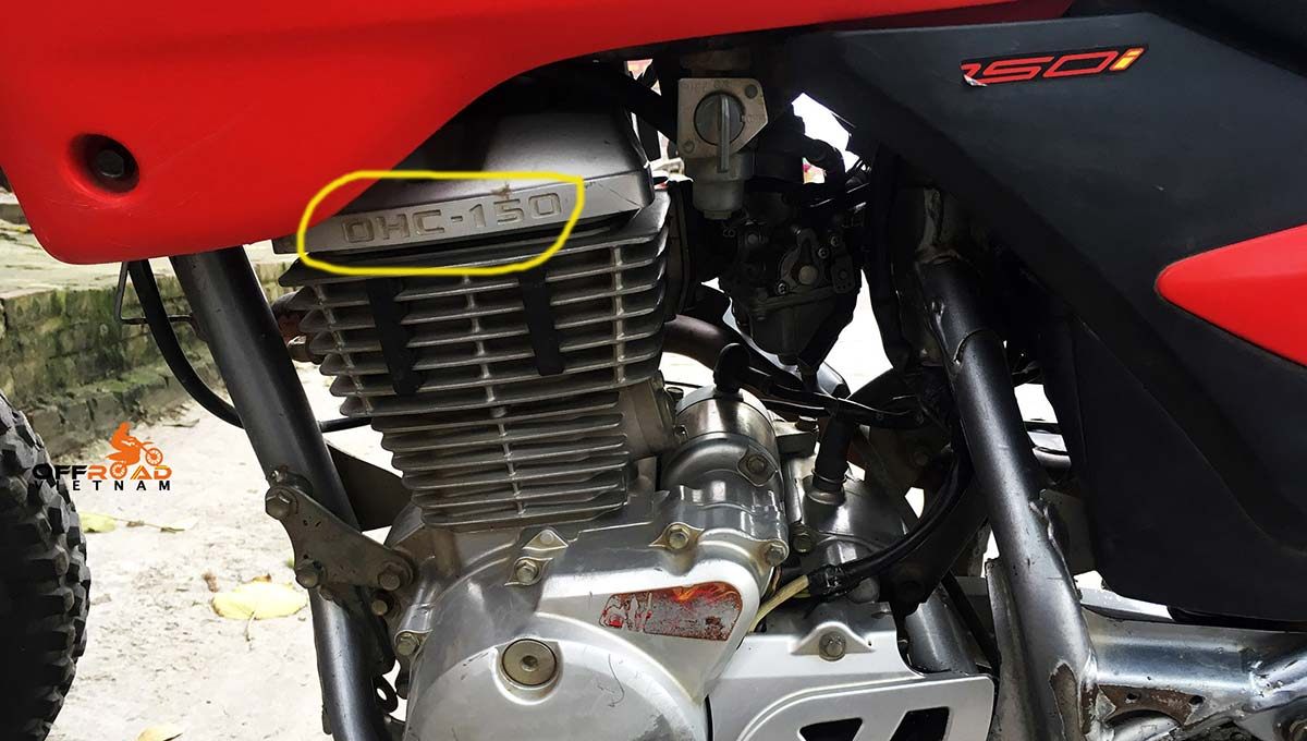 Honda XR125L with 150cc upgraded engine