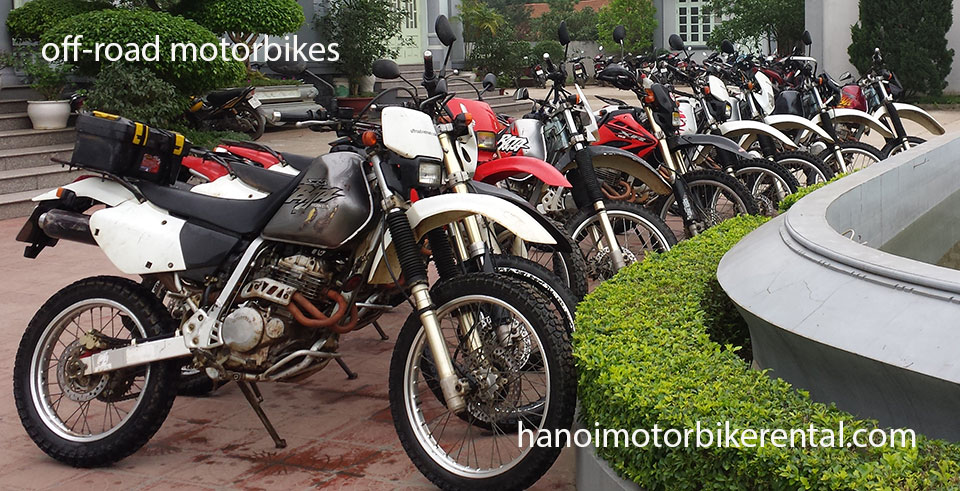Hanoi Motorbike Rental - Off-road motorbikes 125-250cc for rent in Hanoi, Northern Vietnam like Honda XR125, Honda XR150 and Honda XR250.