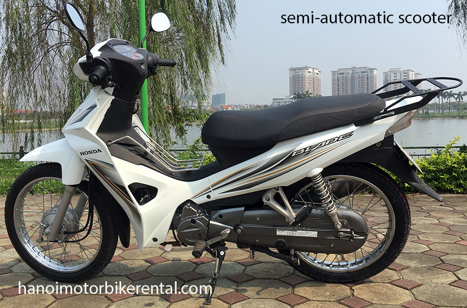 Hanoi Motorbike Rental - Semi-automatic scooters 100-110cc for rent in Hanoi, Northern Vietnam like Honda Wave Alpha 100/110cc, Honda Wave S/RS/RSX 110cc, Honda Super Dream 110cc, Honda Blade 110cc.