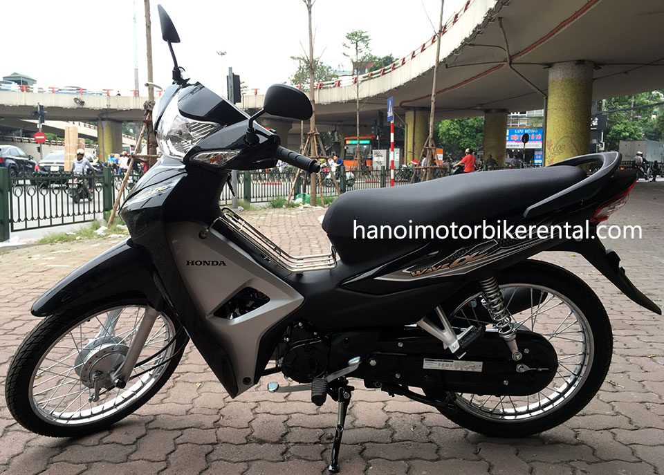 Hanoi Motorbike, Scooter Rental - Honda Wave Alpha 110cc. 2017 Honda Wave Alpha semi-automatic scooter 110cc Hanoi Motorbike Rental provides