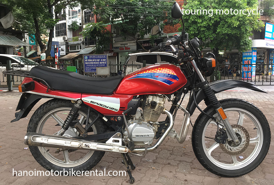 Hanoi Motorbike Rental - Touring motorbikes 125-150cc for rent in Hanoi, Northern Vietnam like Honda CGL125, Winner 150cc.