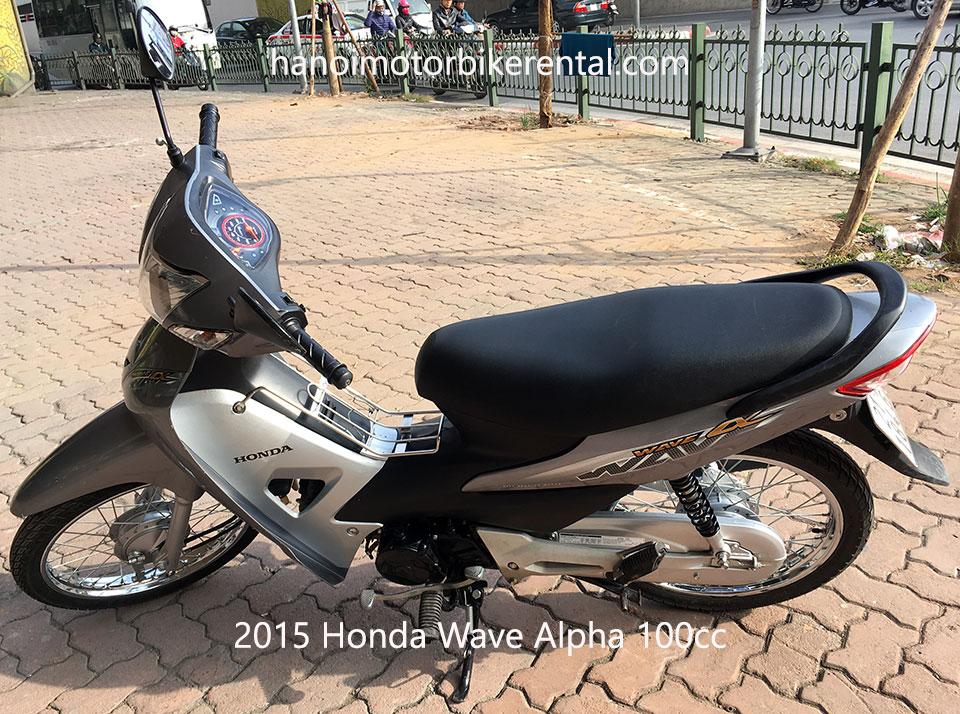 Hanoi Motorbike, Scooter Rental - Bikes for sale in Hanoi: Honda Wave Alpha 100cc year 2015