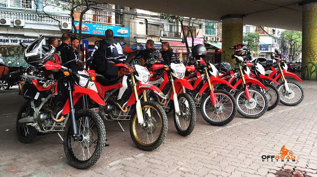 Off-road Motorbikes Hanoi Motorbike Rental provides in Hanoi