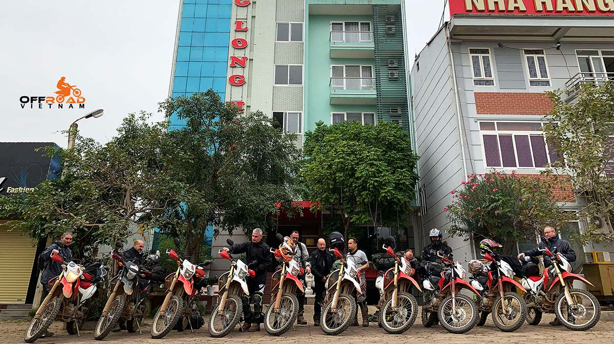 Various type of motorbikes at Hanoi Motorbike Rental office. Excellent off-road motorbikes, touring motorcycles and scooters.