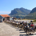Dirt bike riders in Ha Giang province