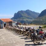 Dirt bike riders in Ha Giang province