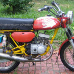 Russian Minsk 125cc, one of the worst touring motorbikes in Vietnam