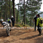 Offroad Vietnam dirtbike tours with stops at road-sides